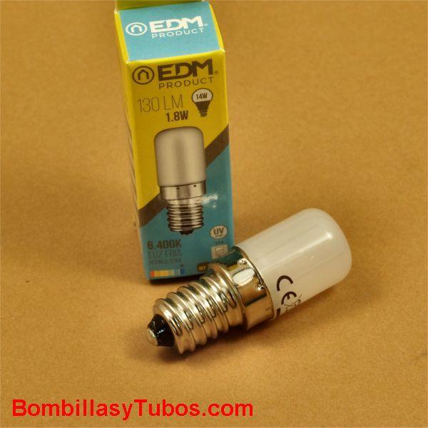 EDM bombilla led tubular 1,8w 130 lumenes 6400k