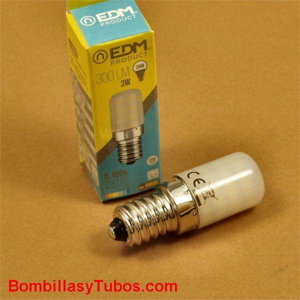 EDM bombilla led tubular 3w 300 lumenes 6400k