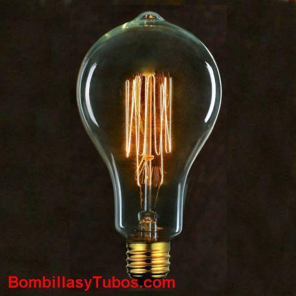 Bombilla filamento carbon ESTANDAR MALLA pico 230v 40w