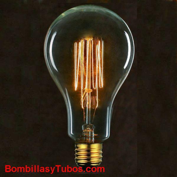 Bombilla filamento carbon ESTANDAR GIGANTE MALLA 230v 40w