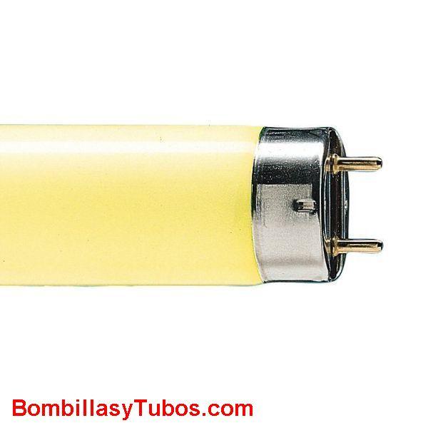 FLUORESCENTE T8 36w/16 AMARILLO - FLUORESCNTE 36W/16 AMARILLO  base g13  medidas:26x1200mm  referencias:tl-d 36w/16 master tl 8 colores  72751040. 36w amarillo, 0002565