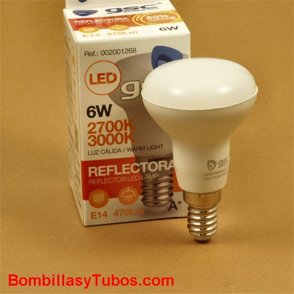 Bombilla led R50 e14 230v 6w 3000k 470 lumenes