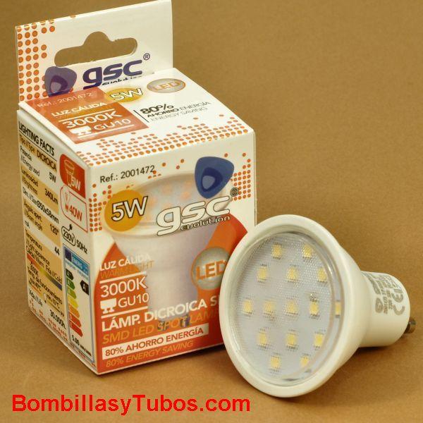 Bombilla  led gu10 230v 5w 2700k 400 lumenes