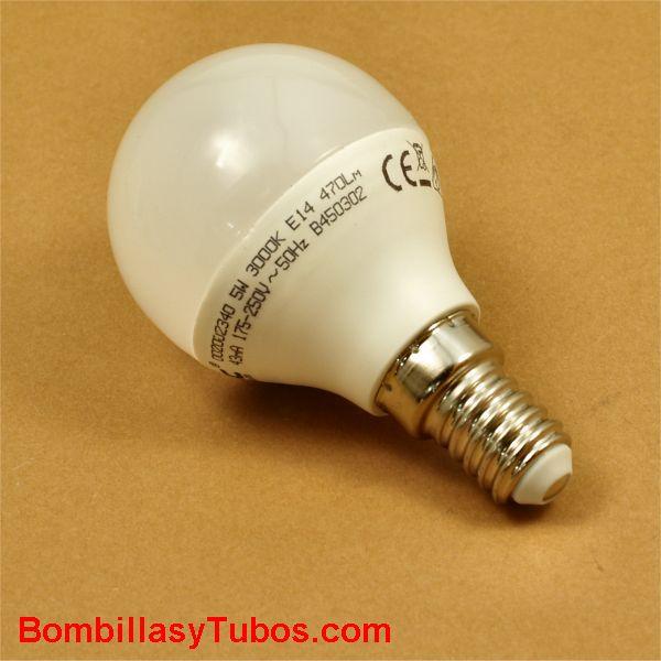 GSC Bombilla led esferica E14 230v 5w 3000k 470 lumenes