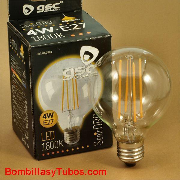 Bombilla led GSC globo 80mm 230v 4w 1800k