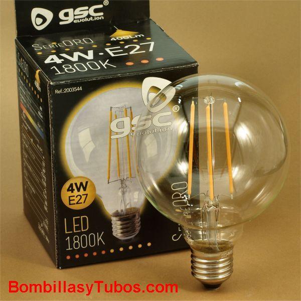 Bombilla led GSC globo 95 230v 4w 1800k 400 lumens