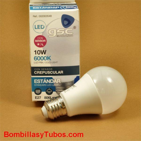 GSC bombilla led  230v 10w con sensor crepuscular