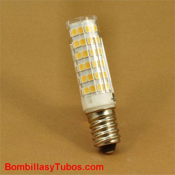 GSC Bombilla Led tubular e14 230v 4,5w 450 lumenes 3000k - lampara led tubular rosca e14 4,5w 3000k calida neutra