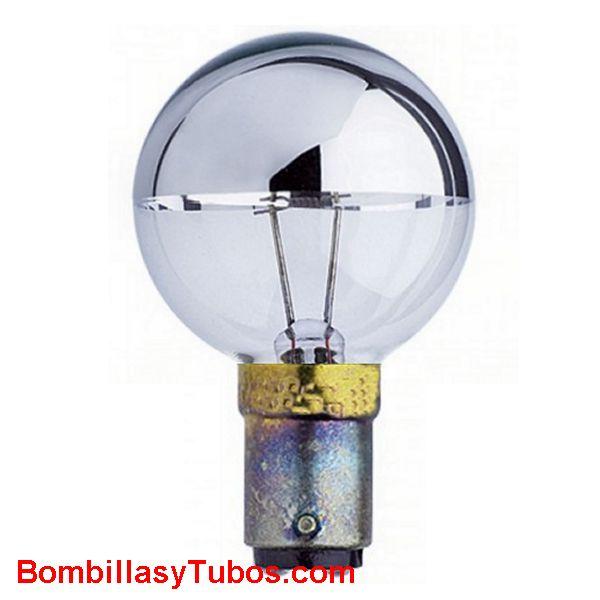 GUERRA 0376/11 110v 30w BA15D - Lampara Guerra de filamento puntual y cupula espejada