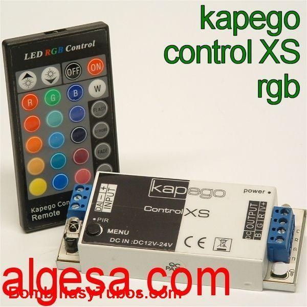 KAPEGO CONTROL XS - KAPEGO CONTROL XS  CONTROL XS RGB  medidas: 102X40X18 mm  potencia: 170w a 12v. 340w a 24v