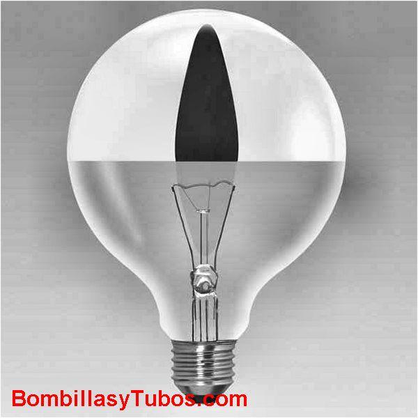 Bombilla GLOBO 125mm CUPULA PLATA  230v 100w - Lampara incandescente GLOBO 125mm CUPULA PLATA 230v  100w