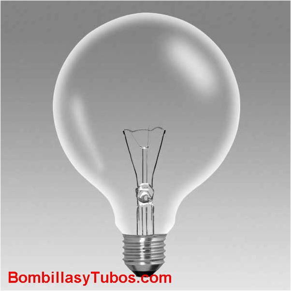 lampara GLOBO 125mm CLARO  60w - Bombilla de globo 125mm de diametro. Acabado claro 60w
