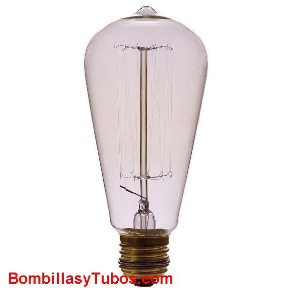 Bombilla RUSTICA PEBETON CLARO 40w - Bombilla de filamento decorativo imitando a las bombillas antiguas