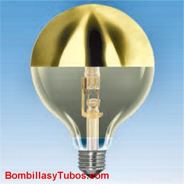 Bombilla GLOBO 125mm CUPULA ORO 230v 42w ECO - Lampara halogena GLOBO 125mm CUPULA ORO  230v 42w ECO