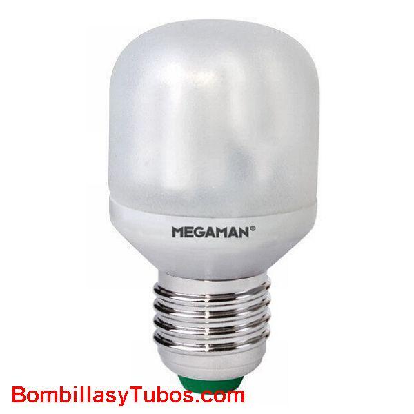 MEGAMAN SOFT MINI T-45 9w E27 - COMPACTA BAJO CONSUMO SOFT MINI T-45 E27 9w 2700k luz calida