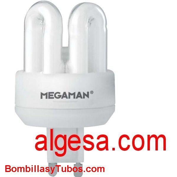 MEGAMAN G9 7W 3000K - Lampara Megaman bajo consumo compatible G9  9w 3000k