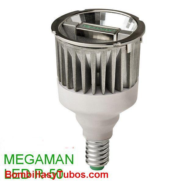 MEGAMAN LED PAR16 E14 7w 2800K - MEGAMAN LED E14 7w 2800K  temp.color: 2800k calido  base: rosca E14.  duración: 20.000 horas  angulo de luz: 35º  medidas: 50x87mm