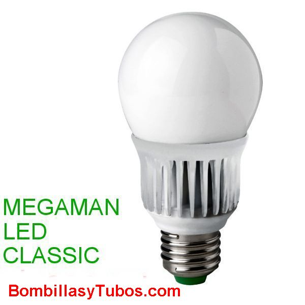 MEGAMAN led clasic  8w 2800k - Megaman lampara led 8w  2800k