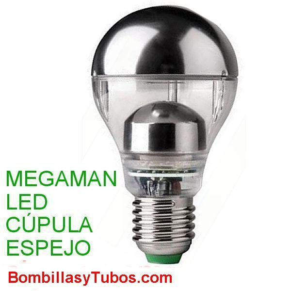 MEGAMAN led clasic cupula espejo 5w 2800k - Megaman lampara led 5w con espejo 2800k