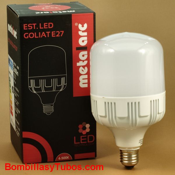 METALARC Lampara Led Goliat E27 30w 3000k - Bombilla de led Alta potencia Goliat 30w E27 3000k