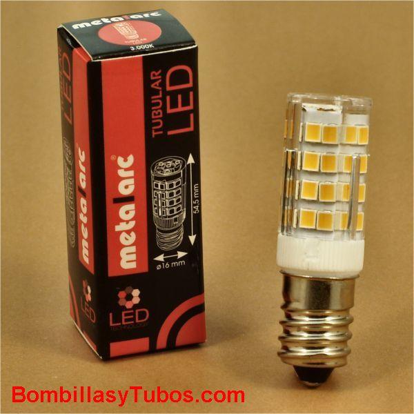 METALARC-led E14 3.5w 3000k - Bombilla led de rosca E14 de 3.5w para iluminacion auxiliar o señalización. 3000k Luz calida neutra
