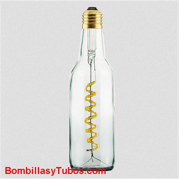 Bombilla Led Botella Cerveza 8w 2200k incolora transparente - Bombilla led en forma botella cerveza LIGH BEEER 8w  2200k Incolora  transparente