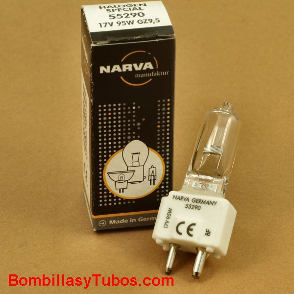 Bombilla Narva 17v 95w GZ9,5