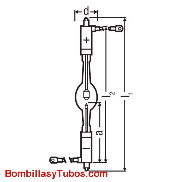 XBO 2500W  OFR - XBO 2500W OFR  potencia: 2500w  base: + SfAx27-13  - SFAX27-14