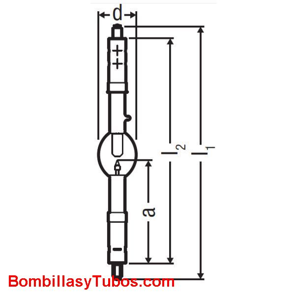XBO 1000W HTP OFR - XBO 1000W/HTP  OFR  potencia: 1000w  base: + SFA25-14  - SFc25-14