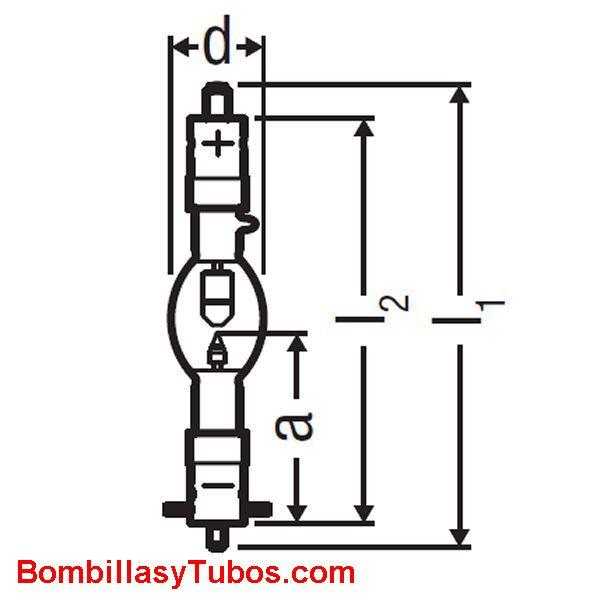 XBO 1000W HS OFR - XBO 1000W/HS  OFR  potencia: 1000w  base: + SFA-27-11  - SFcX27-8