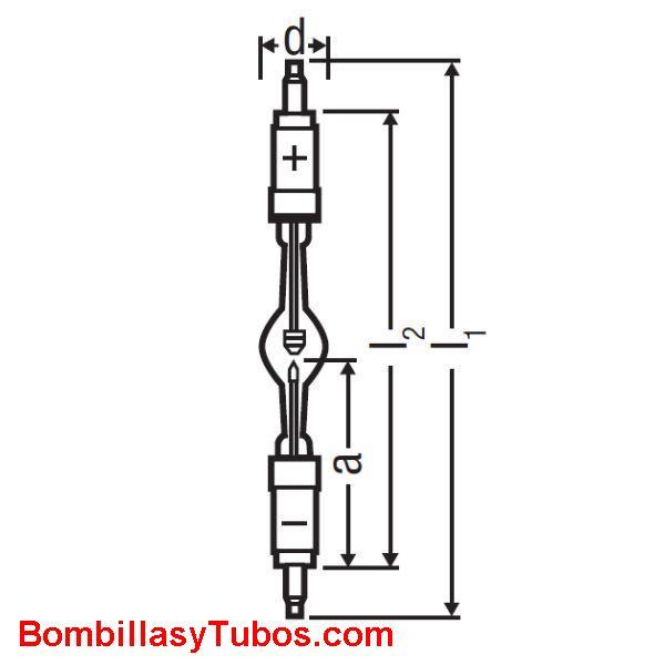 XBO 450W 2 OFR - XBO 450W/2 OFR  potencia: 450w  base: + SK19/36  - SK19/36
