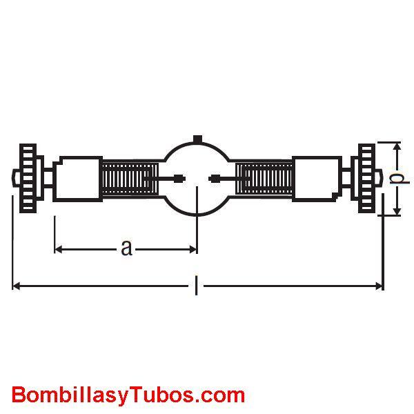 Osram BABY SHARXS HTI 250W/D5/80 - Lampara BABY SHARXS HTI 250W/D5/80  potencia: 250w   base:SfC10-4