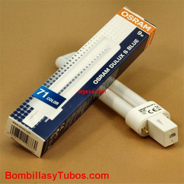 Lampara OSRAM-dulux-s Blue 9w/71 G23 - Lampara fluorescente compacta dulux-s 9w / 71 blue Ultravioleta-A G23