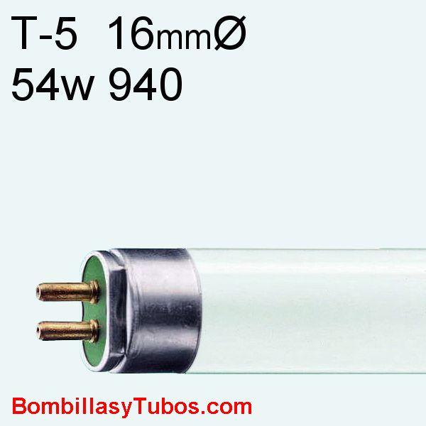 FLUORESCENTE T5 54w/940 115cm - Fluorescente MASTER TL5 HO 54w/940  115cm 4000k blanco frio neutro