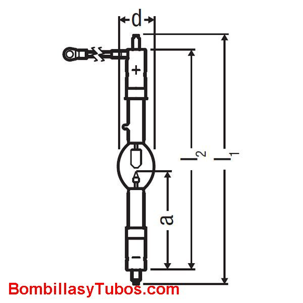 XBO 2500W HS XL OFR - XBO 2500W/HS XL OFR  potencia: 2500w  base: + SFcX25-10  - SFcX25-10