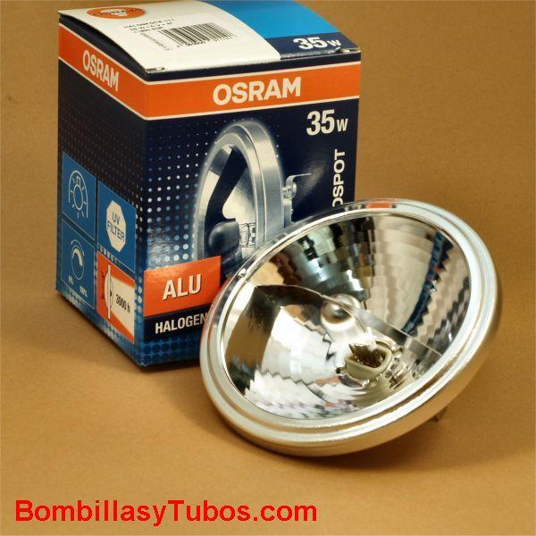 Bombilla QR 111 6v 35w 4º - Lampara halogena QR 111 6v 35w 4º G53