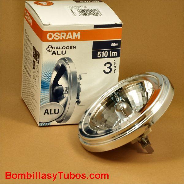 Bombilla QR 111 12v 50w 45º - Lampara Halogena QR 111 12v 50w 45º G53