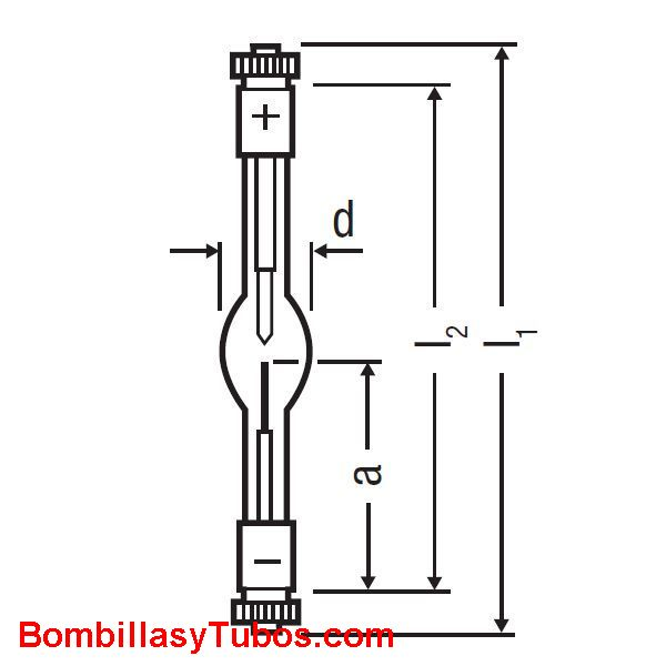 XBO 150W/1 - XBO 150W/1  potencia: 150w  base:+ SFc12-4 -SFcX12-4
