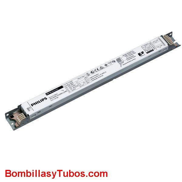 Philips HF-P 140 PL-L E II - BALASTO HF-P PERFORMER PL-L  HF-P 140 PL-L E II  Para 1 lampara pl-l. dulux-l 40w,   Medidas: 280x30x28mm  Codigo:06372430