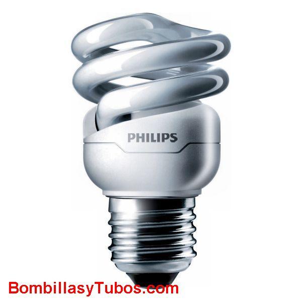 PHILIPS Tornado espiral   8w E27 2700k - Lampara bajo consumo Tornado espiral  8w e27  2700k. Luz cálida