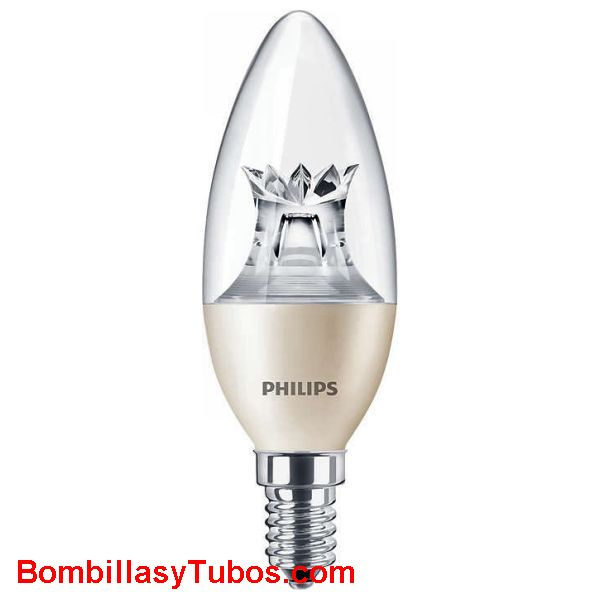 Philips master Ledvela Dimtone 230v 4-25w 827 cl - Lampara Philips Dimtone Vela 4-25w 2700k clara