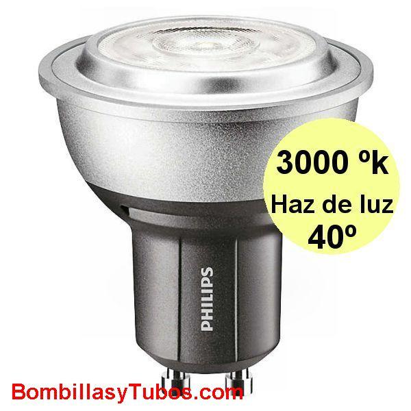 PHILIPS MASTER LEDSPOT  D 4-35W GU10 40° 3000K - PHILIPS MASTER LEDSPOT MV D 4-35W GU10 40° 3000K luz calida neutra