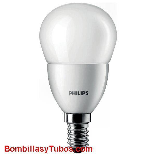 Philips Corepro LedEsferica Mate 5.5-40w e14 827 - Lampara Philips Corepro Esferica 5.5-40w e14 2700k mate