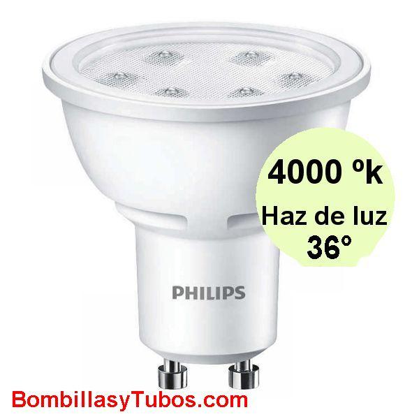 Philips Corepro ledspot 230v 3-35w 840 36° - Lampara Philips Corepro 230v 3-35w 4000k 36°