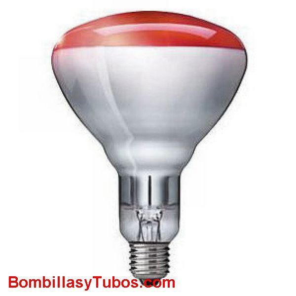 Bombilla INFRARROJOS R125 ROJA 150w - LAMPARA Reflectora R125 INFRARROJOS 230v 150w ROJA