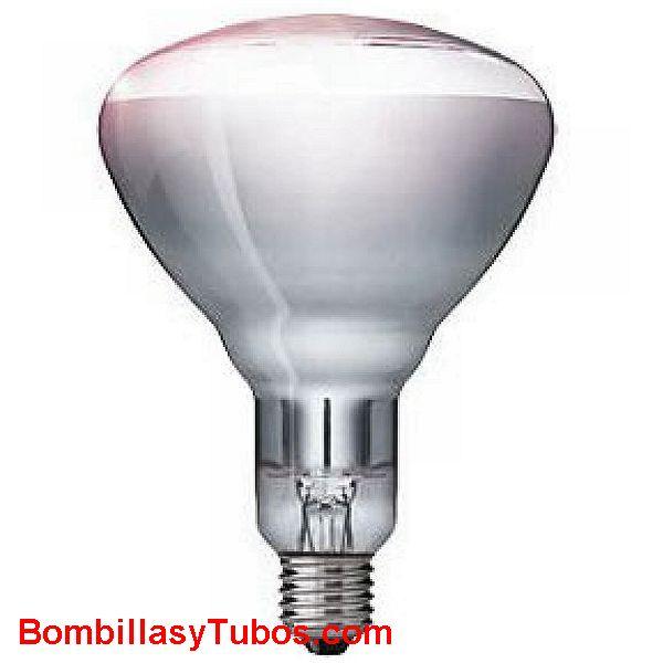 PHILIPS INFRARROJOS R125 CLARA 150w - LAMPARA INFARROJOS Reflectora R125 230v 150W CLARA