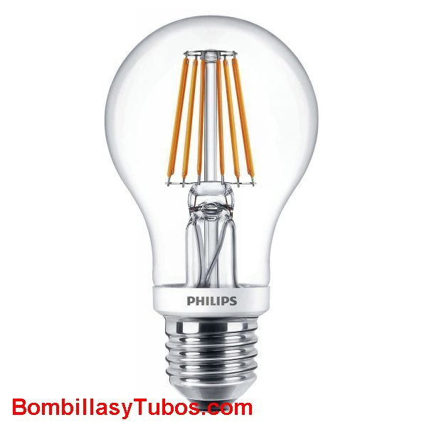 Philips Ledbulb clasica 7.5-60w 827 - Lampara Philips ledbulb clasica 7.5-60w 2700k