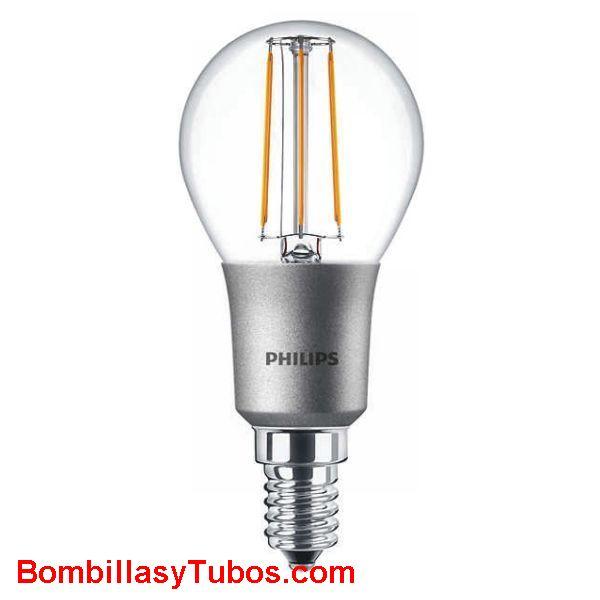 Philips LedEsferica clasica e14 5-40w 827 cl - Lampara Philips Esferica E14 clasica 5-40w 2700k clara
