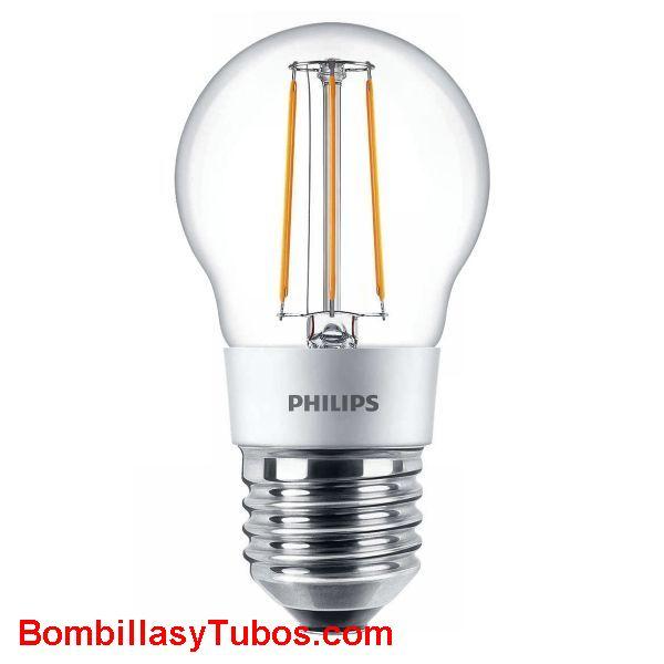 Philips LedEsferica clasica e27  5-40w 827 cl - Lampara Philips Esferica E27 clasica 5-40w 2700k clara