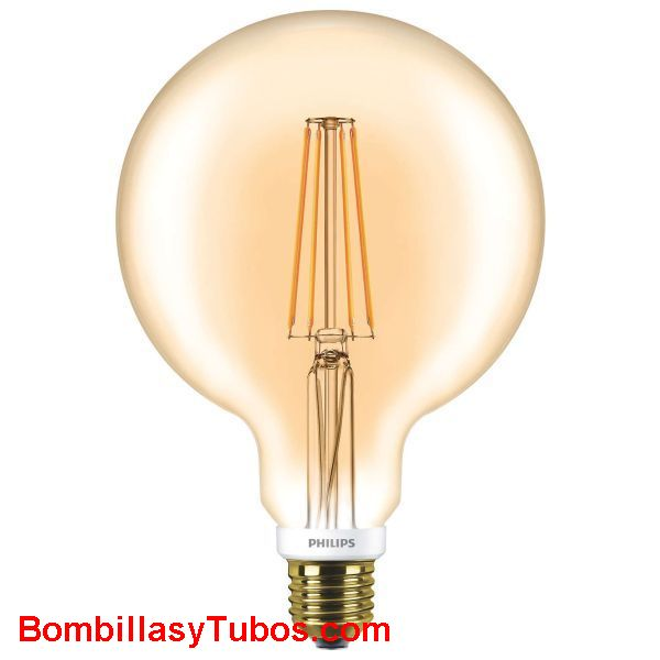 Philips ledbulb clasica Globo 125 230v 7-50w Gold - Lampara Philips Globo 125mm 230v 7-50w gold 2000k